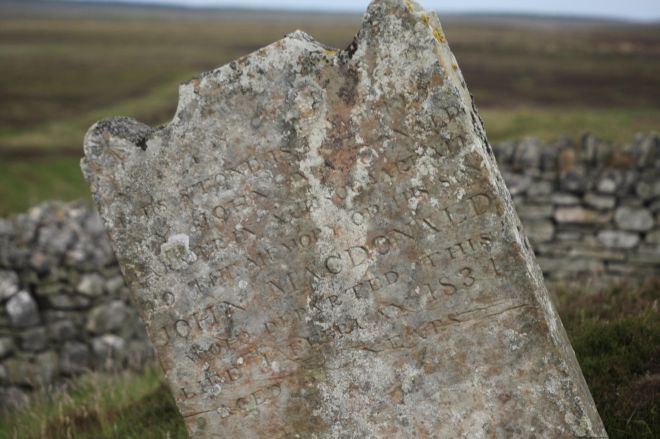 Gravestone - John MacDonald of Achscoriclate
